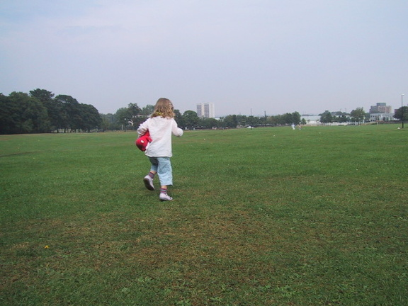 Grace running away