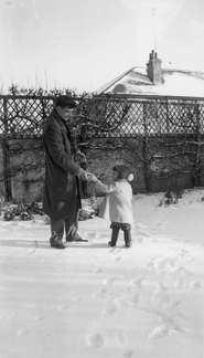 George and Anna in the snow, January 1962