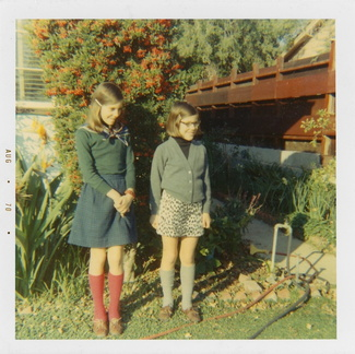 Anna and Clare in Santa Barbara. Date on print is August 1970