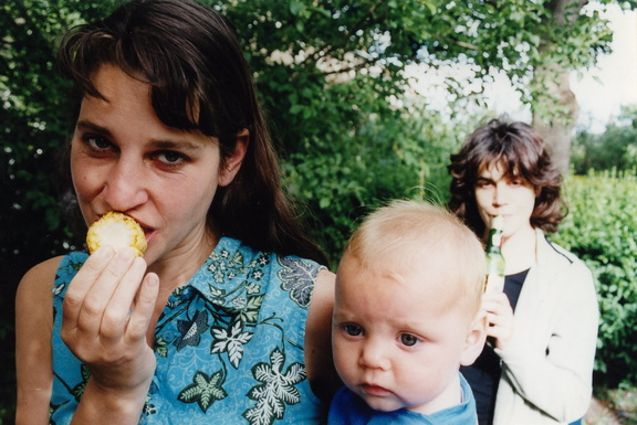 Anna, Grace and Laura in about 2002 outside 2HSP