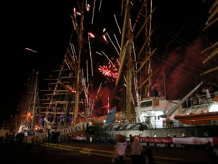 Tall ships and fireworks