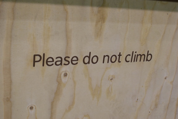 Please do not climb