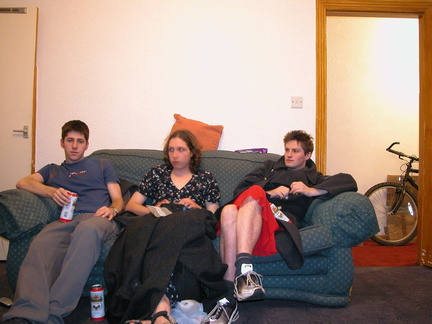 Me[alex] with my can of Dammy-B, Rob and Simon