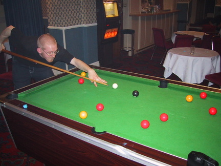 Smithy playing pool