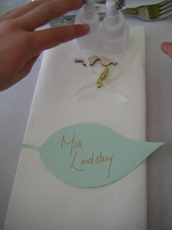 Mia's place card