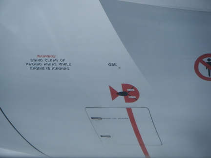 Markings on plane