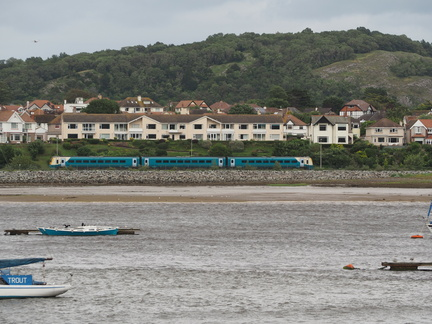 Train passing Llandudno Junction