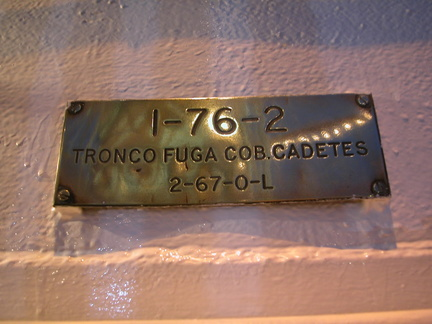Plaque on a Portugese ship