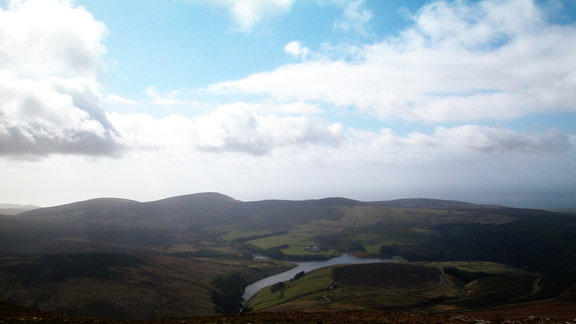 Looking towards Douglas from the top of Snaefell